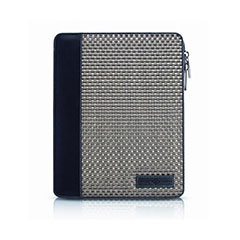 Belford Zip Folio For  iPad 4 / 3 / 2 - Pewter Basket Weave