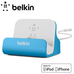 Belkin Lightning Charge and Sync Dock for iPhone 5S / 5C / 5 - Blue