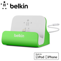 Belkin Lightning Charge and Sync Dock for iPhone 5S / 5C / 5 - Green