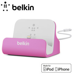 Belkin Lightning Charge and Sync Dock for iPhone 5S / 5C / 5 - Purple