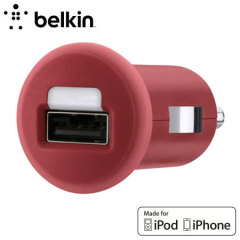 Belkin Single Micro USB 1A Car Charger - Red