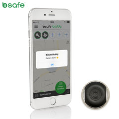 Biisafe Buddy V2 Smart Button Location Tracker Device - Black
