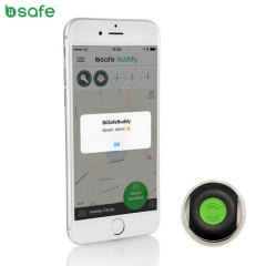 Biisafe Buddy V3 Smart Button Location Tracker Device - Black/Green