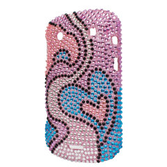 Blackberry Bold 9900 Diamante Back Cover - Hearts