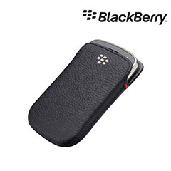 BlackBerry Bold 9900 Leather Pocket - Black - ACC-38857-201
