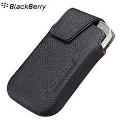 BlackBerry Bold 9900 Leather Swivel Holster - Pitch Black