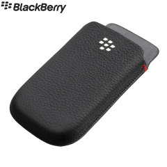 Official BlackBerry Classic Leather Pocket Case - Black