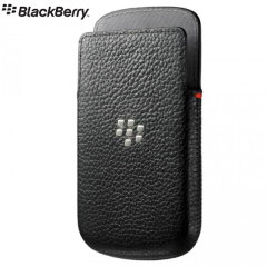 BlackBerry Q10 Leather Pocket - Black - ACC-50704-201