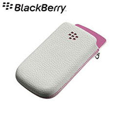 BlackBerry Torch 9800 Leather Pocket White/Pink ACC-32840-201