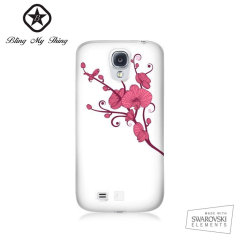 Bling My Thing Ayano Kimura Orchid Galaxy S4 Case - White
