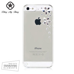 Bling My Thing Flowers iPhone 5S / 5 Case - Crystal