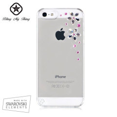 Bling My Thing Flowers iPhone 5S / 5 Case - Pink Mix