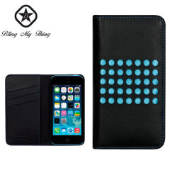 Bling My Thing Infinity Dots iPhone 5C Case - Black / Blue