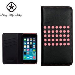 Bling My Thing Infinity Dots iPhone 5C Case - Black / Pink