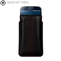 Bling My Thing Infinity Dots Pouch for Galaxy S Phones - Black / Red