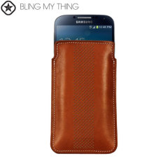 Bling My Thing Infinity Dots Pouch for Galaxy S Phones - Brown / White
