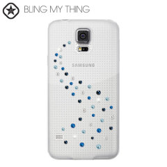 Bling My Thing Milky Way Collection Galaxy S5 Case - Blue Mix