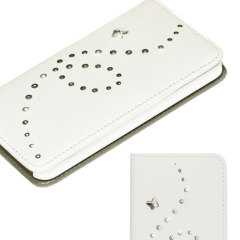 Bling My Thing Mystique Papillon iPhone 5S / 5 Case - White