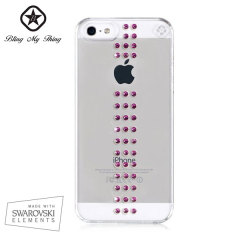 Bling My Thing Stripe iPhone 5S / 5 Case - Fuchsia