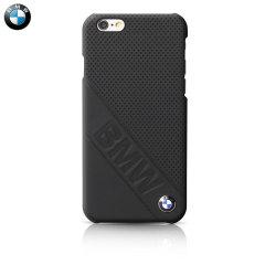 BMW Genuine Leather Slanted Logo iPhone 6 / 6S Hard Case - Black