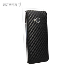 BodyGuardz Carbon Fibre Armor Skin for HTC One M7 - Black