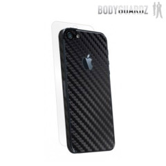 BodyGuardz Carbon Fibre Armor Skin for iPhone 5S / 5 - Black