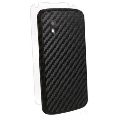 BodyGuardz Carbon Fibre Armor Skin for LG Nexus 4 - Black