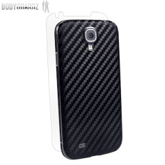 BodyGuardz Carbon Fibre Armor Skin for Samsung Galaxy S4 - Black