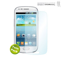 BodyGuardz Samsung Galaxy S3 Mini Screen Protector- Twin Pack