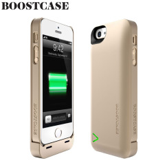 Boostcase Hybrid Case 1500Mah Battery iPhone 5S / 5 - Champagne Gold