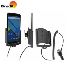 Brodit Google Nexus 6 Active Holder With Tilt Swivel and Cig-Plug