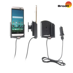 Brodit HTC One M9 Active Holder With Tilt Swivel, Cable & Cig-Plug