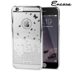 Butterfly iPhone 6S / 6 Shell Case - Silver / Clear