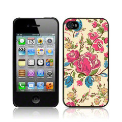 Call Candy iPhone 4S / 4 Hard Back Case - Fancy Floral