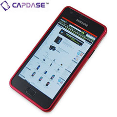 Capdase Alumor Bumper for Samsung Galaxy S2 - Red/Black