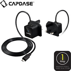 Capdase Atom Plus 1Amp Universal Power Adapter - Micro USB - UK