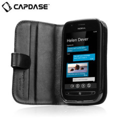 Capdase BookFlip Case For Nokia Lumia 710 - Black