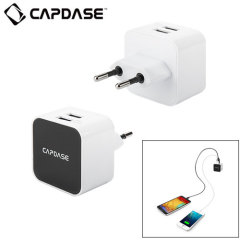 Capdase EU Mains Dual USB Power Adapter - White