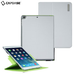Capdase Folio Dot Folder Case for iPad Air - White / Grey