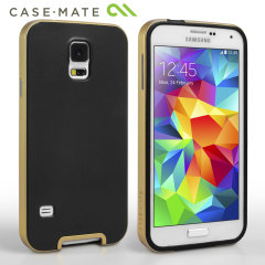Case-Mate Galaxy S5 Mini Slim Tough Case - Black / Gold