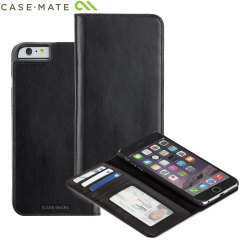 Case-Mate Leather Wallet Folio iPhone 6S Plus / 6 Plus Case - Black