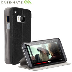Case-Mate Stand Folio HTC One M9 Wallet Case - Black/Grey