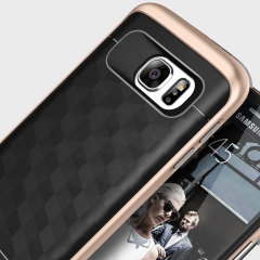 Caseology Parallax Series Samsung Galaxy S7 Case - Black / Gold