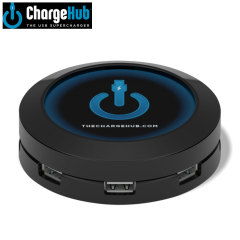 ChargeHub 7 Port USB Charging Station - Black