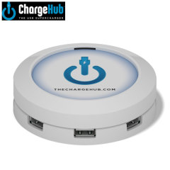 ChargeHub 7 Port USB Charging Station - White