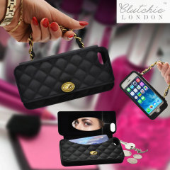 Clutchie iPhone 5S / 5 Purse Case - Black / Gold
