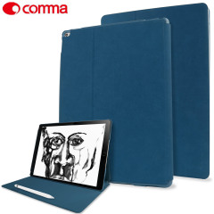 Comma Elegant Series Leather iPad Pro 12.9 inch Case - Dark Blue