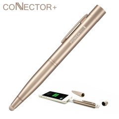Connector+ 4-in-1 Power Stylus Pen 700mAh - Gold