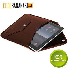 Cool Bananas Leather iPad 4 / 3 / 2 Envelope Case - Brown