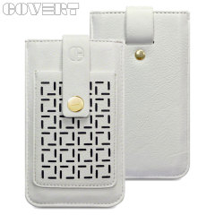 Covert Lexi Leather Style Pouch Case for iPhone 5S / 5  - Cream